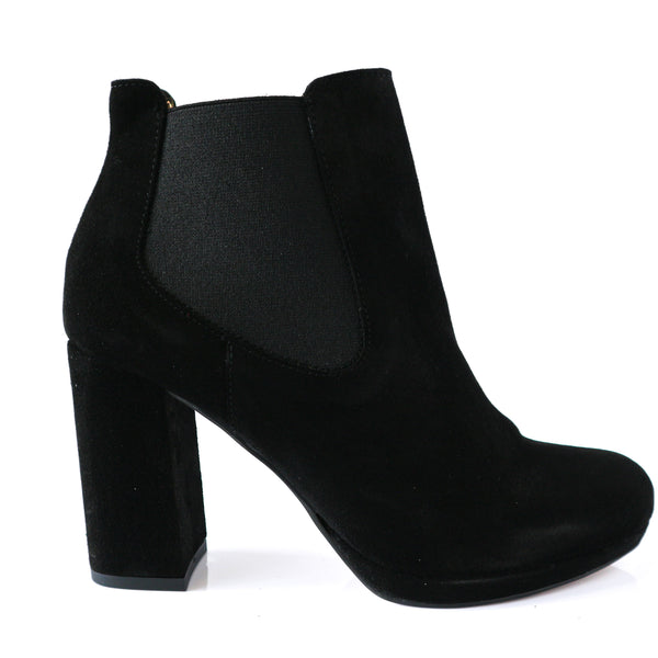ROSALINA | Black Suede Boot - TrystShoes