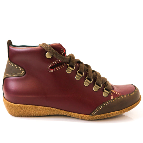 SANTI | Burgundy Laced Trainers - TrystShoes