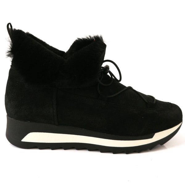XAVI | Black Fur Shoes - TrystShoes