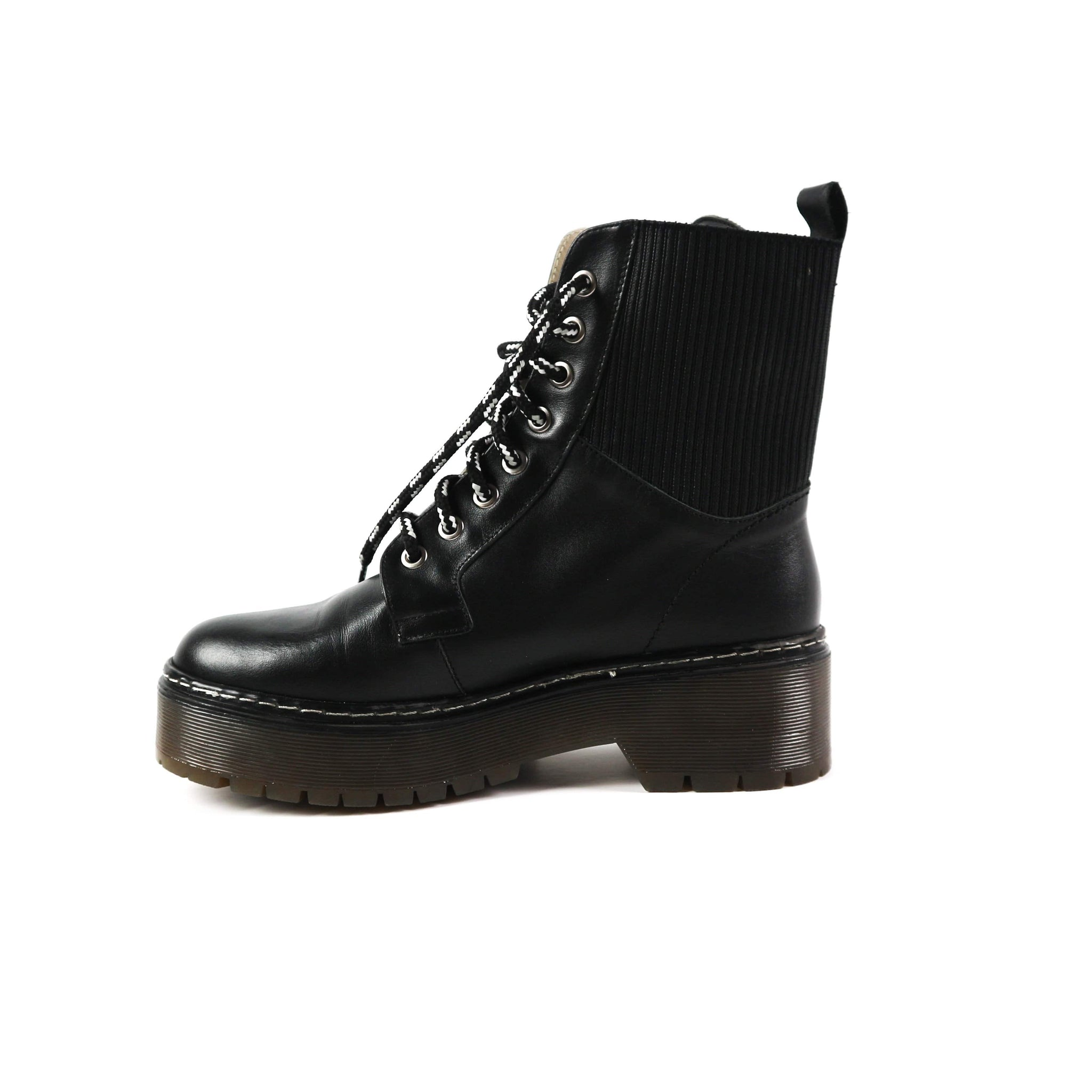 MAYA | Laced Black Boot - TrystShoes