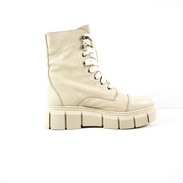 BROOK | Funky Cream Boots - TrystShoes