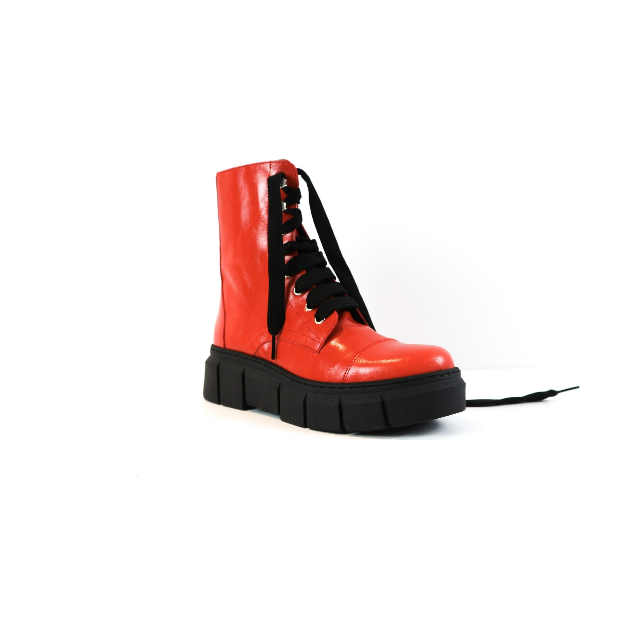ROXY | Funky Red Biker Boots - TrystShoes