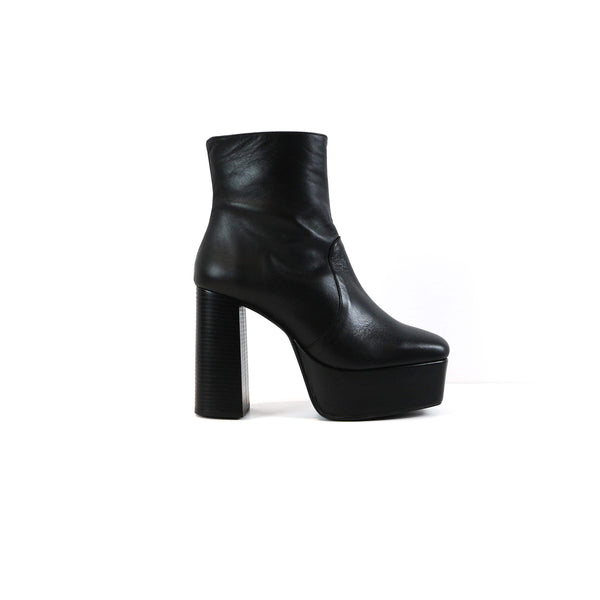 ADRIANA | BLACK LEATHER PLATFORM BOOTS - TrystShoes