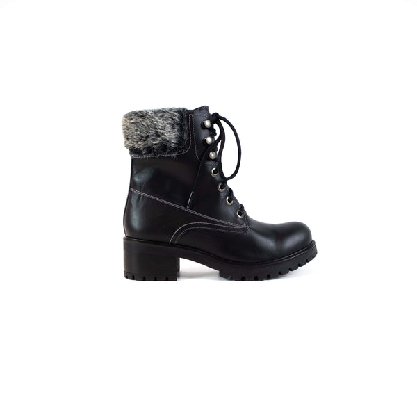 LOLA | Laced Fur Boot - TrystShoes