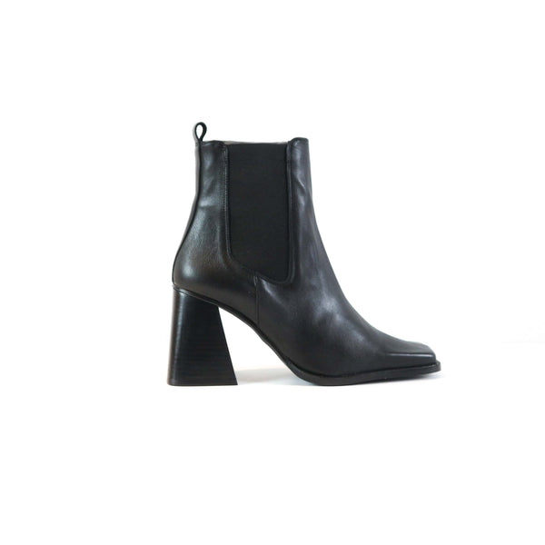 STELLA | TALL BLACK LEATHER BOOT - TrystShoes