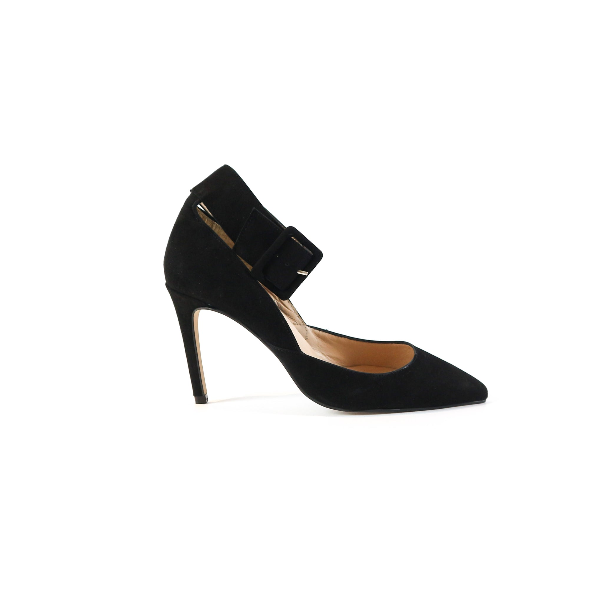 VALENTINA | Strapped Black Heel - TrystShoes
