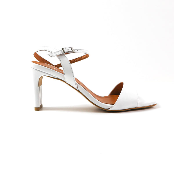 JOSE | WHITE SANDALS WITH OPEN TOE - TrystShoes
