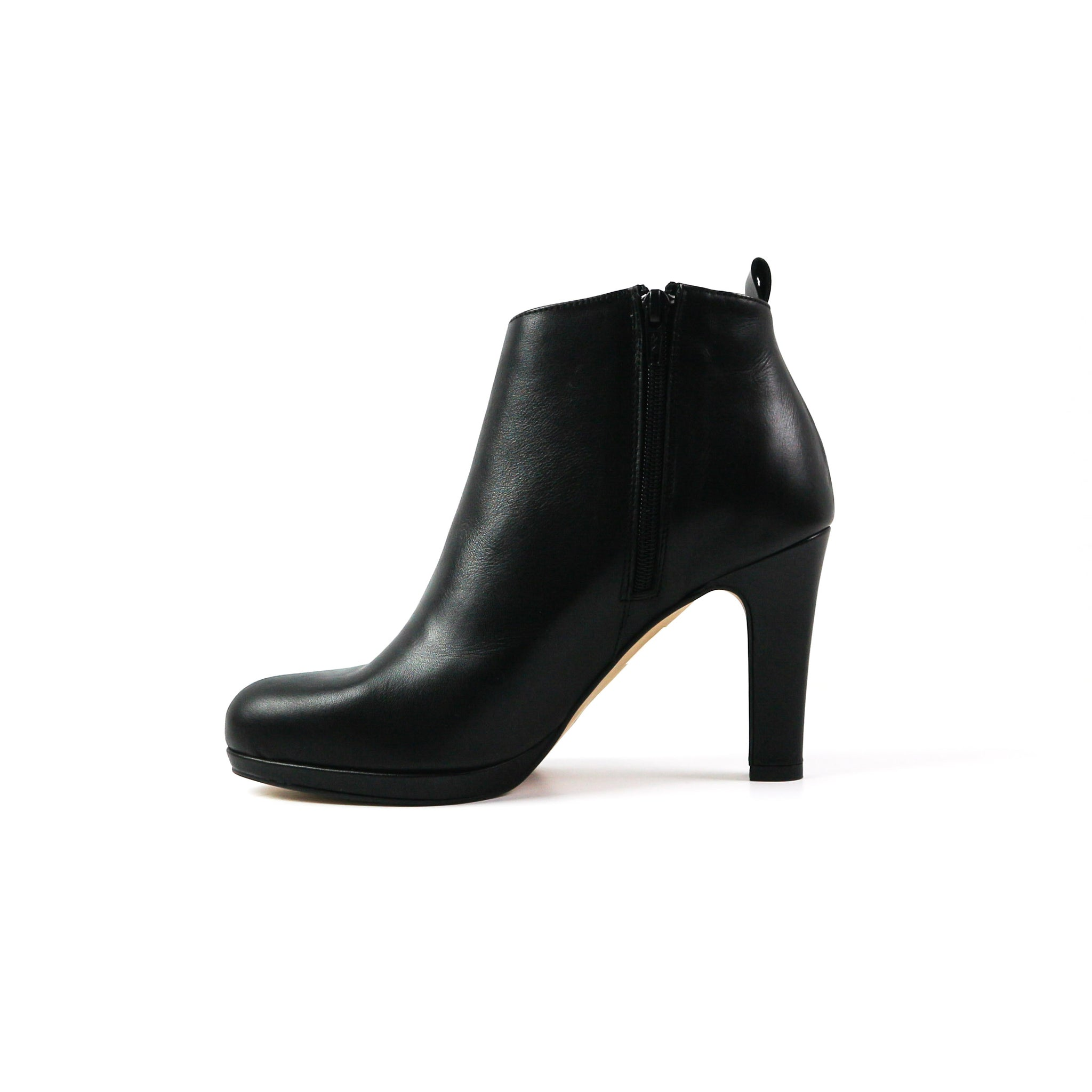 DAWN | Black Zipped Heel - TrystShoes
