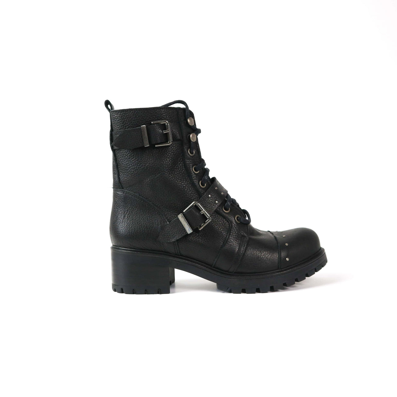 FRIDA | Black Studded Boot - TrystShoes