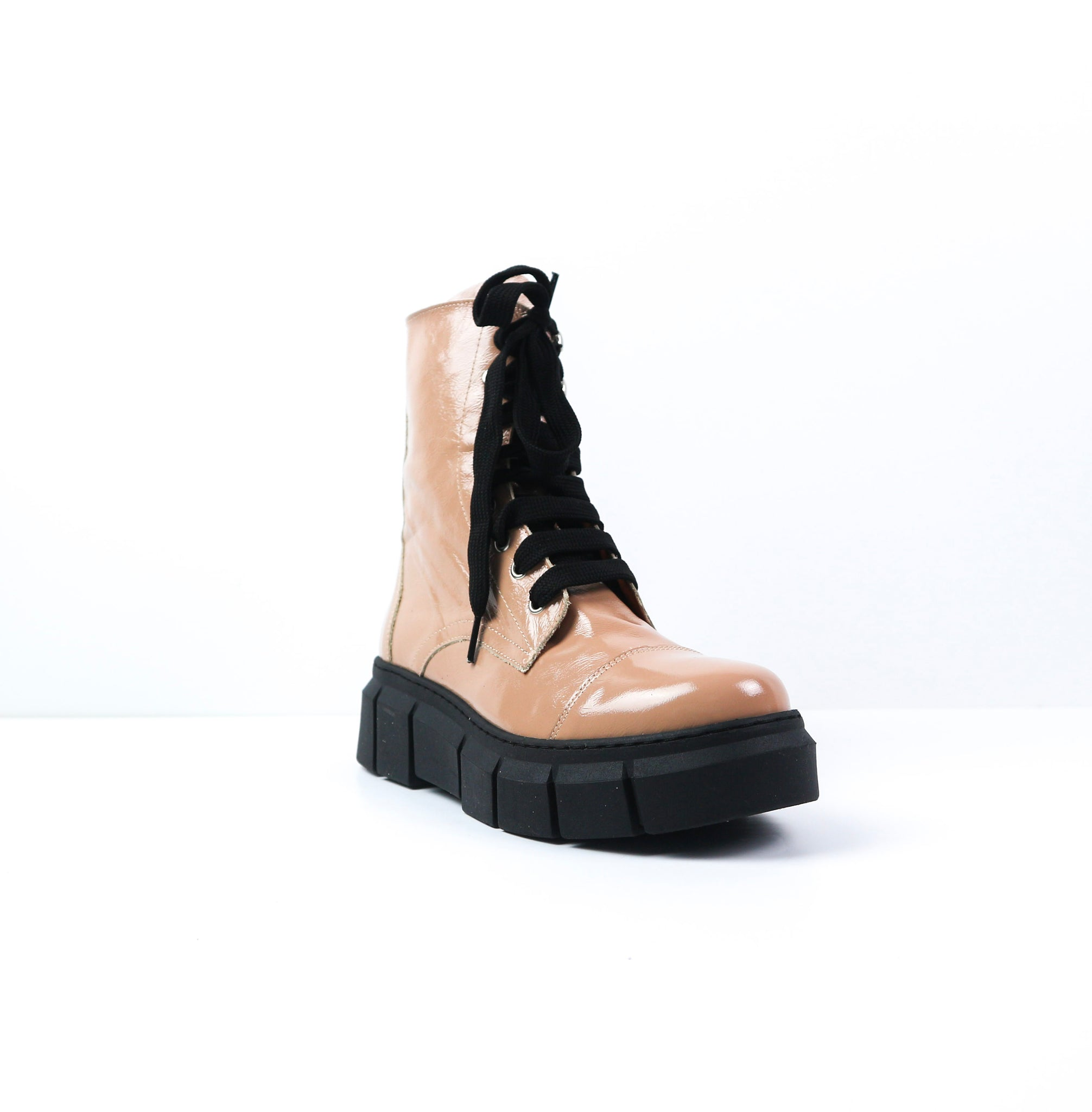 ALEXI | Pink Leather Boots - TrystShoes