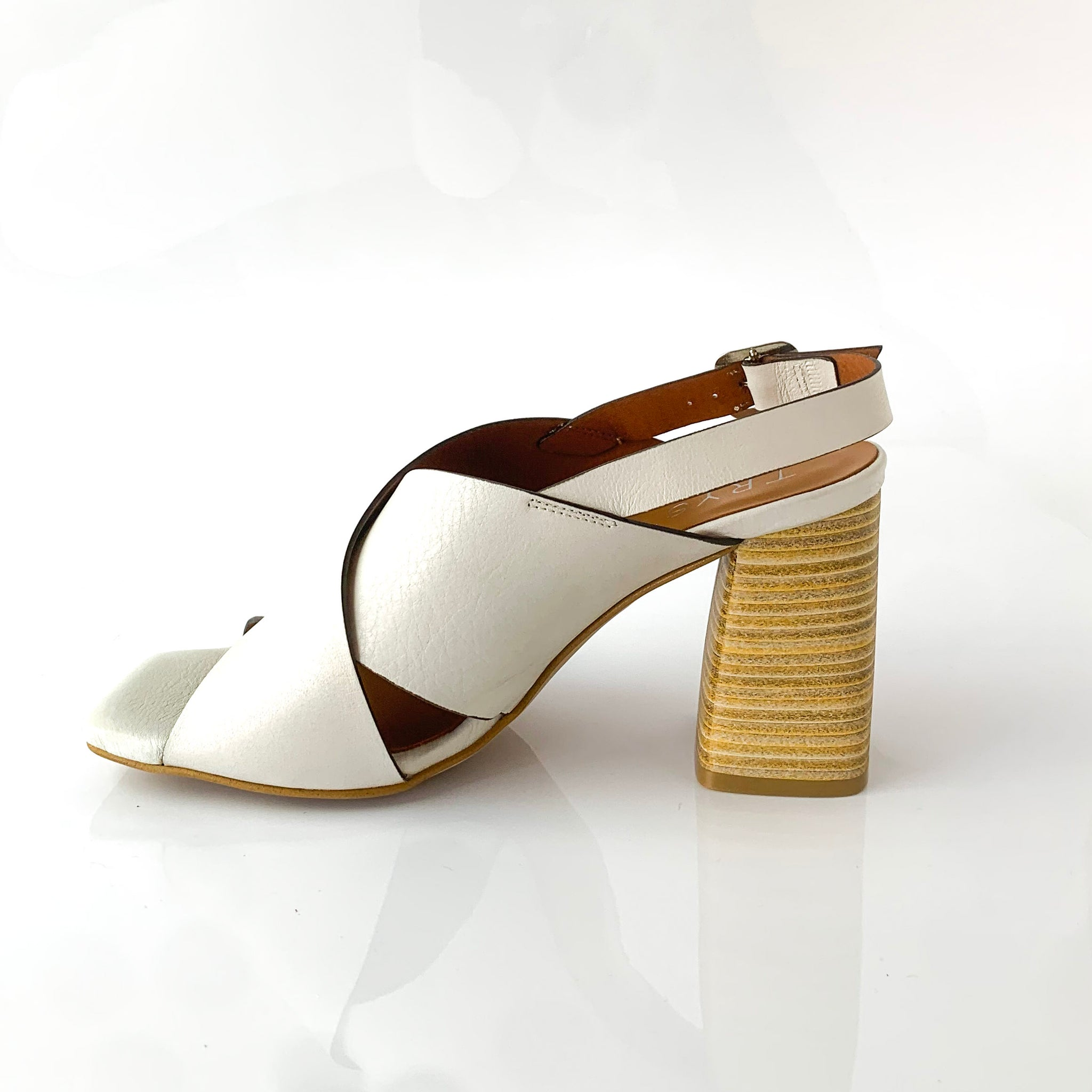LAILA | WHITE WEDGE SANDALS - TrystShoes