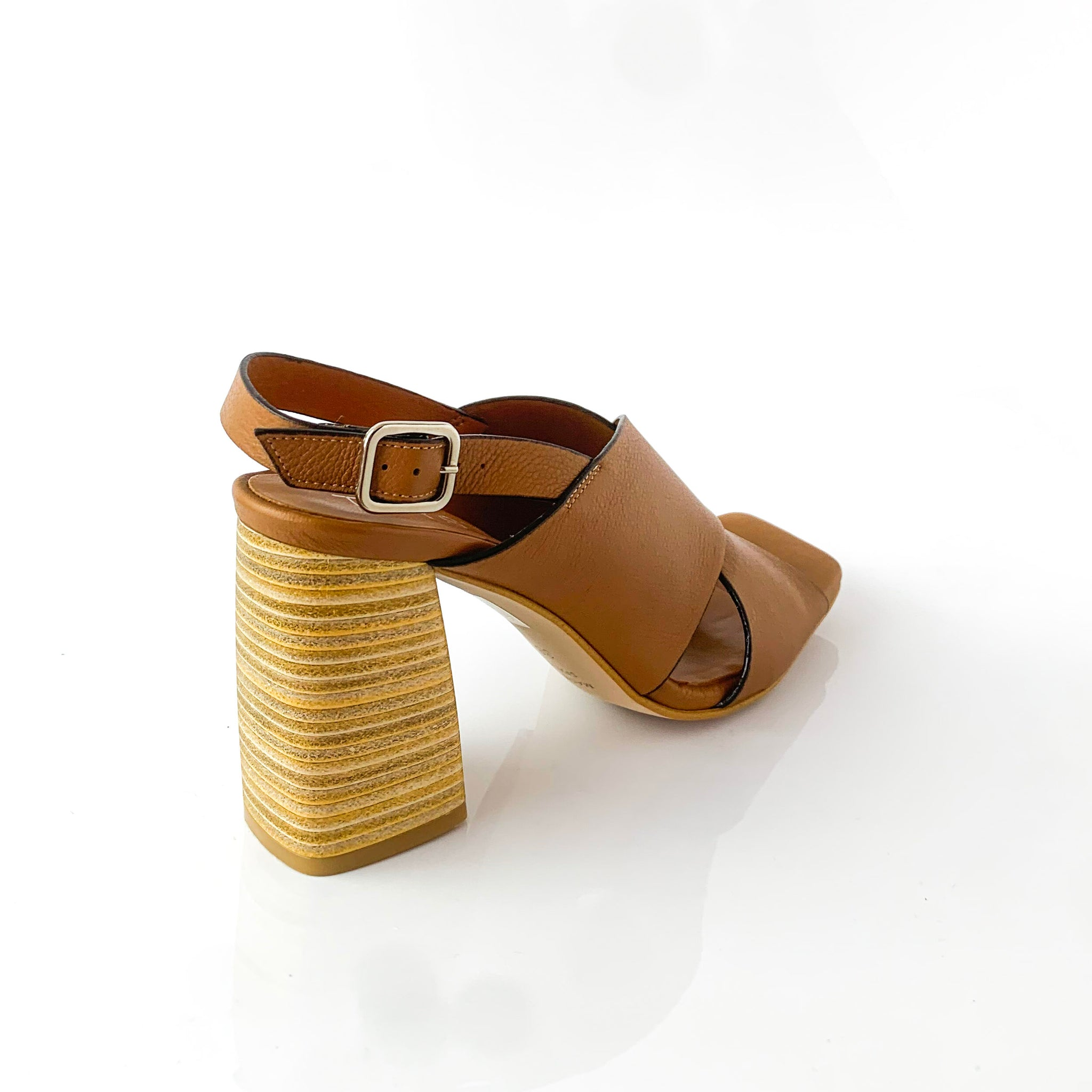 MARIAH | BROWN WEDGE SANDALS - TrystShoes