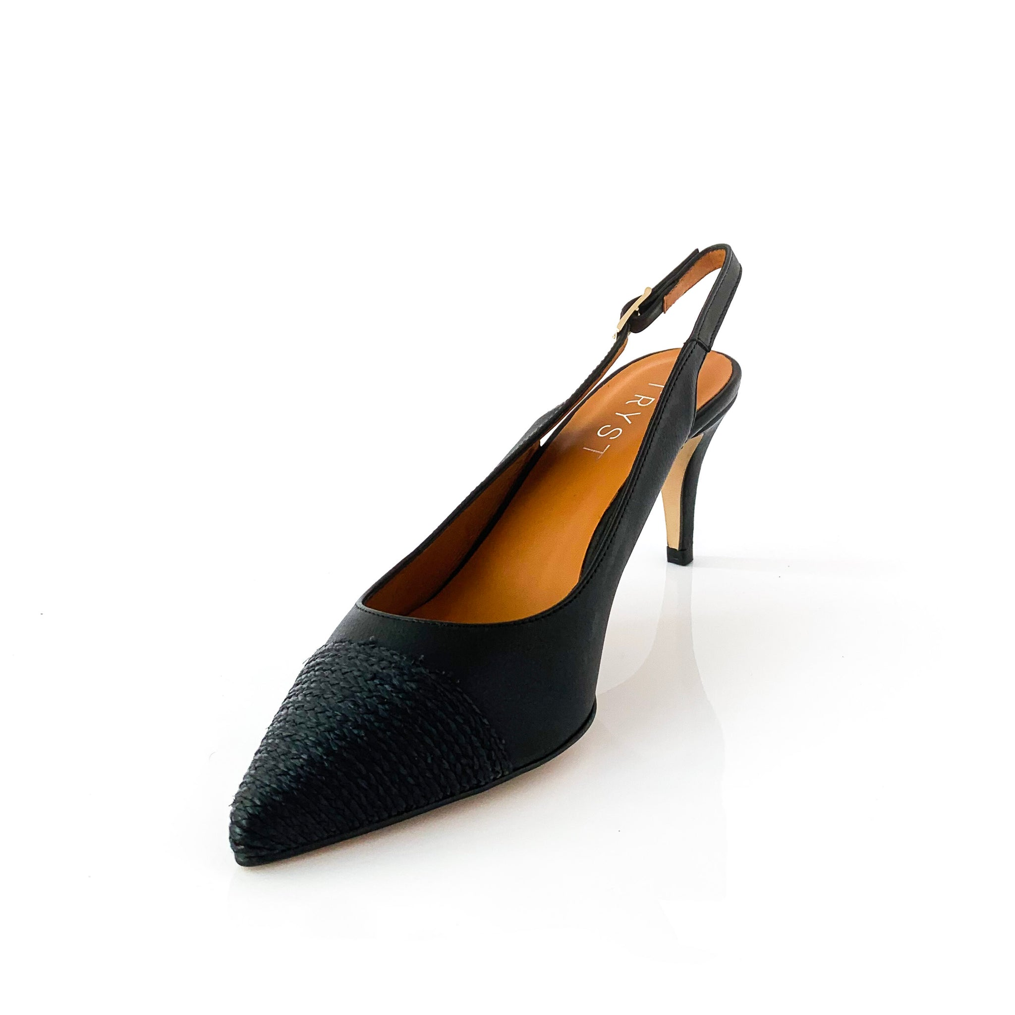 LUCI | Black Pointed Toe Heel - TrystShoes