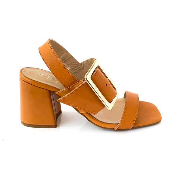 REY |BROWN SANDALS WITH BUCKLE - TrystShoes