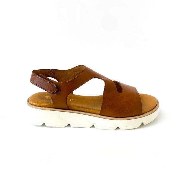 MARINE | Platform Sandals with Brown Straps - TrystShoes