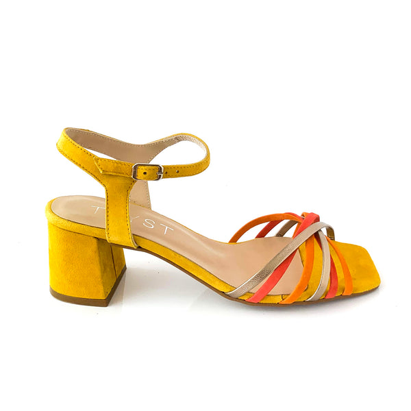 SANDRA | Yello Suede Sandal - TrystShoes