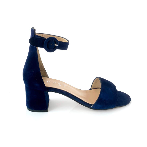 CARLA | BLUE SUEDE SANDALS - TrystShoes
