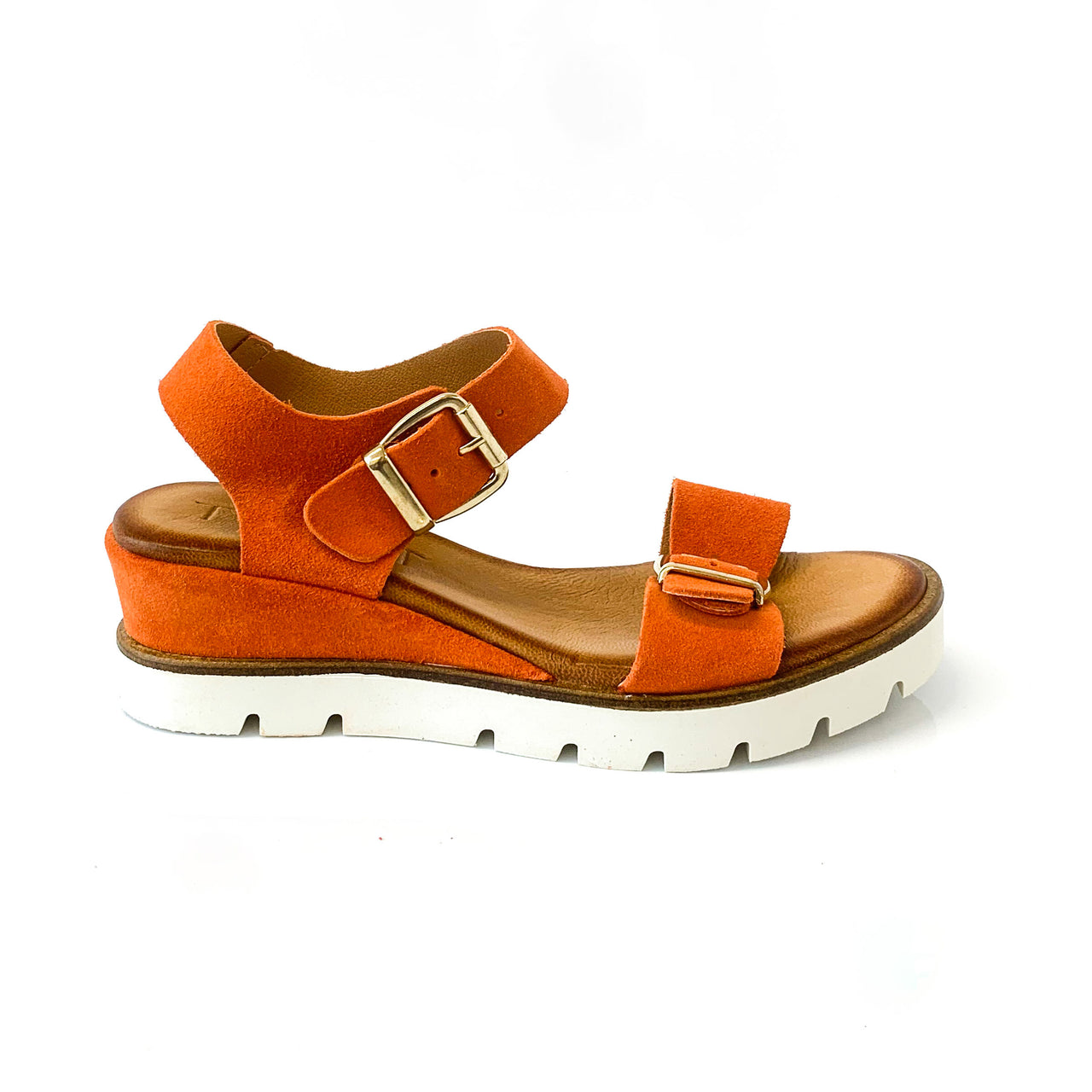 CAMERON | Orange Summer Sandals - TrystShoes