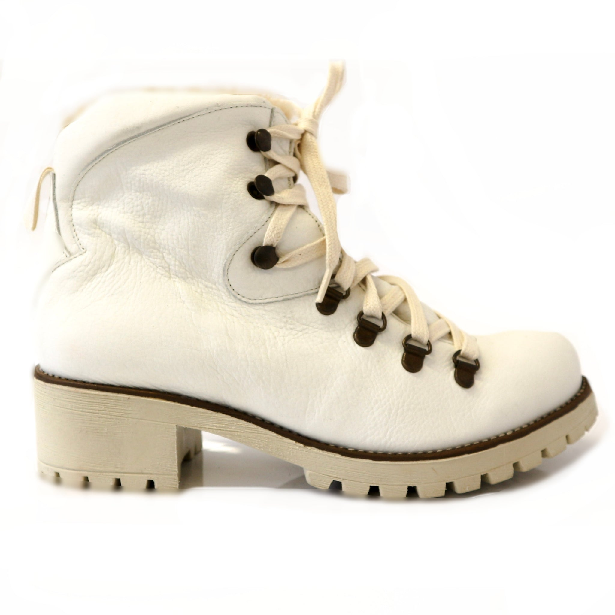 DIAZ | White Fur Boot - TrystShoes