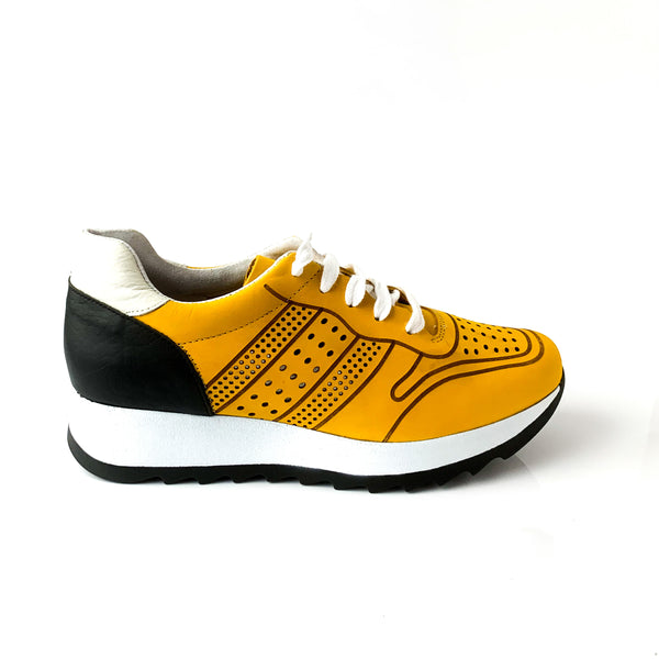 AURELIE | Yellow Funky Runners - TrystShoes
