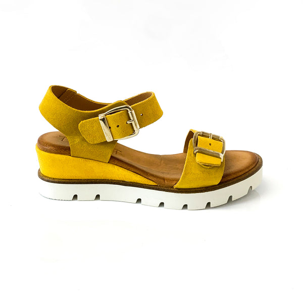 ROHANA | Yellow Summer Sandals - TrystShoes