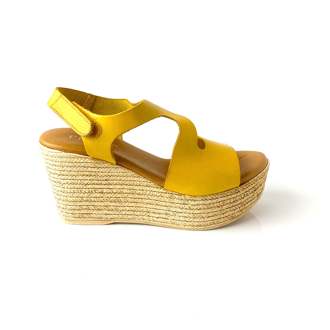 Arely | Yellow Platform Sandals - TrystShoes