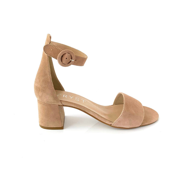 CELIA | TAUPE SUEDE SANDALS - TrystShoes