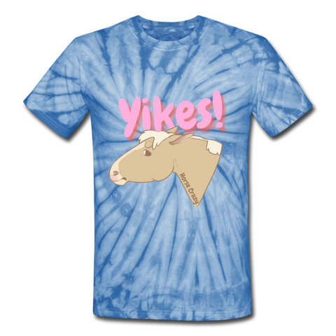 Yikes Tee - spider baby blue