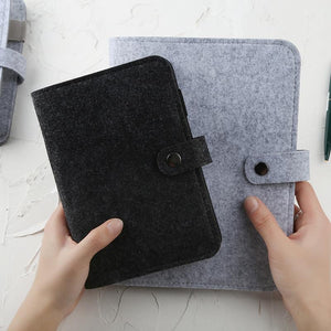 A5 A6 Felt shell fabric notebook Loose Leaf Notebook Paper Planner Inner Page ring binder Stationery Gift Traveler Journal