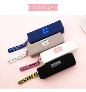 Creative Pencil Case Simple Design Style Zipper Pencil Bags Pen Holders School Supplies Stationery Pencil Box for Boys or Girls
