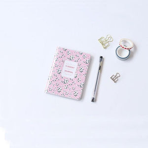 2019 Half Year Agenda Planner Monthly Weekly Plan Portable A6 Kawaii Notebook Cute Diary Flower Schedule Office Stationery
