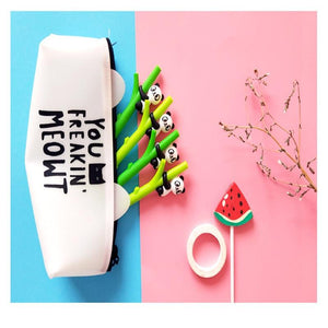 Creative Cute Cartoon Panda Bamboo Neutral Pen Writing Office School Supplies Stationery Children Gifts
