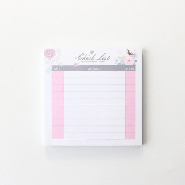 Cute student desk 2020 year time organizer pad stationery,candy monthly weekly daily planner list memo pad/note pad