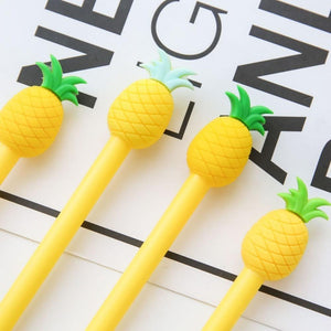 Ellen Brook 1 Piece Kawaii Stationery Cute Pineapple Gel Pen Offices School Supplies Gift Black Blue Ink 0.5 mm