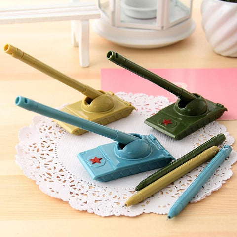 1 Pcs Novel Creative Weapons Tank Modeling Gel Pen Escolar Office Kawaii Stationery Gifts School Kids Toy Neutral Pens