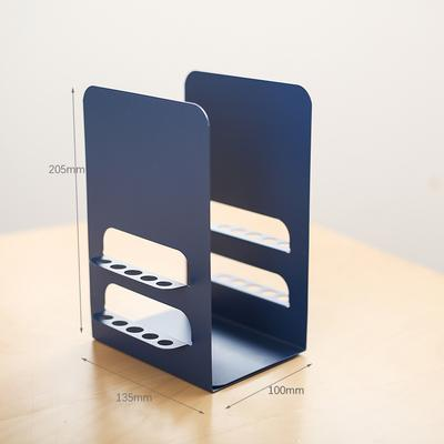 1 Pair Metal Bookends Book Holder Stand Shelf Desk Organizer Desktop Office Pen Holder Home Storage Book Ends Support