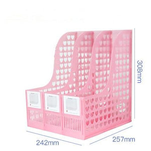 Plastic Bookshelf 3/4 /6 Section Divider Paper Magazine Rack Holder Office Desktop Storage File Rack Desk Organiser Stationery