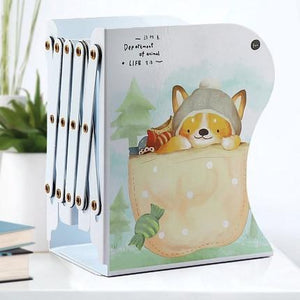 Creative Adjustable Bookends Animal Metal Bookshelf Student Stationery Non-slip Magazine File Holder Organizer Book Stand Rack