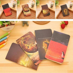 JESJELIU 1PCS Mini Cute Kawaii Journal Diary Notebook With Lined Paper Vintage Retro Notepad Book For Kids Korean Stationery