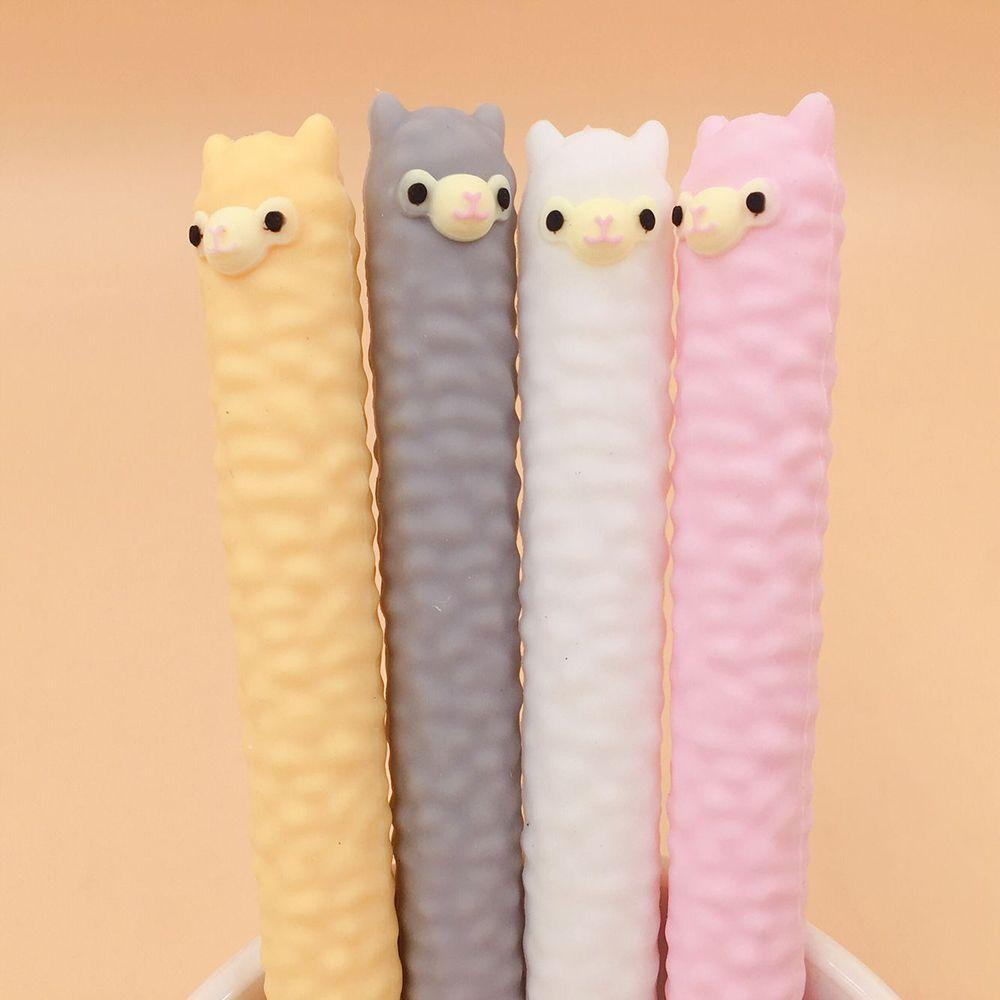 1PC Silicone Cartoon Alpaca Animal Shape Gel Pen Student Stationery Novelty Gift School Material Office Supplies