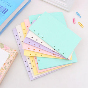 A5 A6 Color page Original Newest Inside Pages planner filler papers Loose-Leaf Notebook Accessories Student Stationery