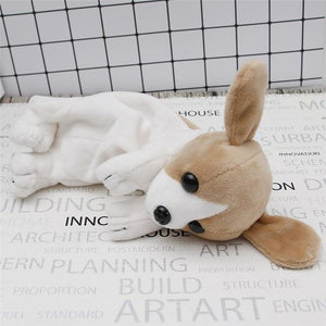 Cartoon Plush Pencil Case Kawaii Stationery Plush Dog Puppy School office supplies Pencil Bag For Kids Pencil Box christmas gift