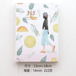 Cute Stationery Notebook 365 Planner Kawaii A5 Weekly Monthly Daily Diary Planner 2019 Notebooks or Journals School Supplies