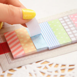 160 Pages Cute Memo Pad Plaids and lines Note Sticky Paper Stationery Planner Stickers Notepads Office School Supplies