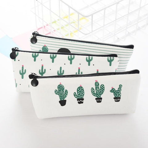 Novelty Cactus School Pencil Case Kawaii School Supplies Stationery Pencil Box Pen Bags Schools & Offices