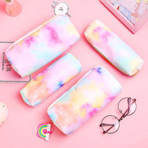 1Pcs Kawaii Pencil Case Colorful Pink Make UP Gift Estuches School Pencil Box Pencilcase Pencil Bag School Supplies Stationery