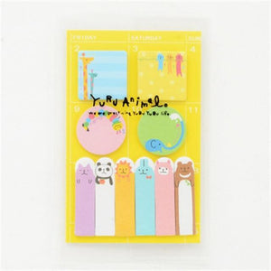 Coloffice Cute Kawaii Panda Memo Pad Paper Stickers Cartoon Cats color Note Students Stationery Kids Gift School Supplies  1PC