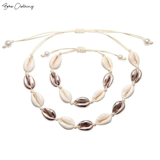 Boho Cowrie Shell Necklace