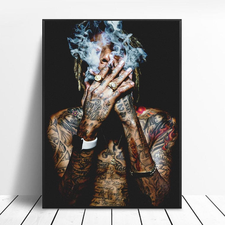 Wiz Khalifa Rapper Music Star Canvas Poster Art Prints 8x12 24x36 inches 002
