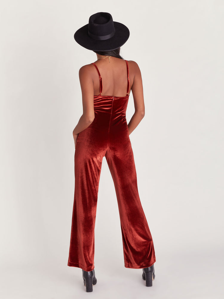 Brooklyn Velvet Jumpsuit